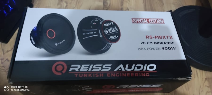 RS- M8XTX 20 CM MİDRANGE -MAX POWER 400W 175 RMS 1