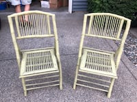 Two green bamboo chairs  Puyallup, 98374
