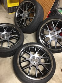 "20"" Vossen VVS-CV2 5x114.3 Wheels and Tires Silver Spring, 20904"