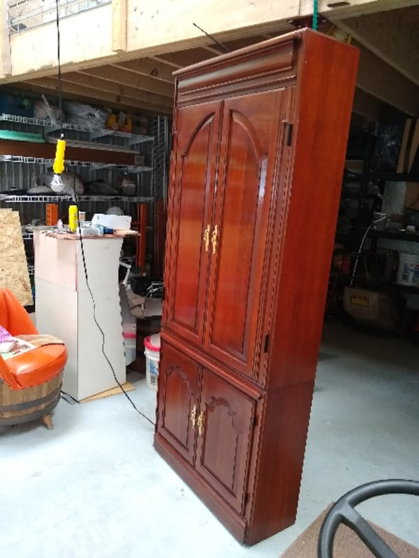 Cherry Entertainment Cabinet with Bar fea9a24d-c7f8-4695-9b2c-a8c739ccc506