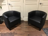 EUC Faux Leather Arm Chairs x 2 Langley, V2Y 3J3