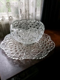 Vintage Punch Bowl w/Underplate and Ladle