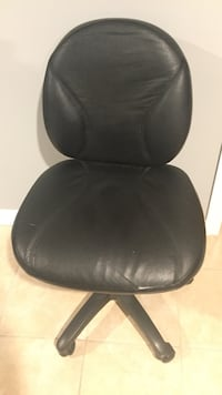 Black leather armless Rolling office chair Vaughan, L6A 1S2