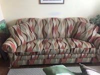 brown and red fabric sofa Colorado Springs, 80920