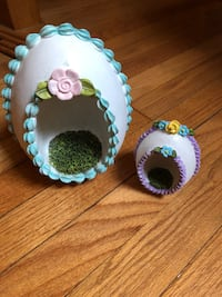 Fairy garden egg decorations