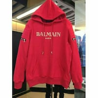 Red Balman pull over hoodie