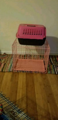 Pink dog crate and carrier 59 km