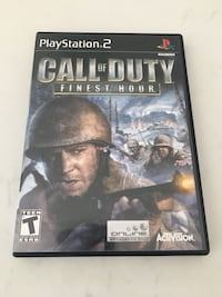Call of Duty finest hour for PS2 Whitby