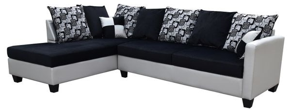 Incredible Black Leather Tufted Sectional Sofa Ibusinesslaw Wood Chair Design Ideas Ibusinesslaworg
