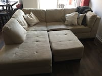 gray fabric sectional sofa with ottoman Oakville, L6H 0K1