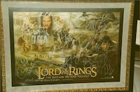 Lord of the Rings Full cast signed & framed w/COA Trinity, 34655