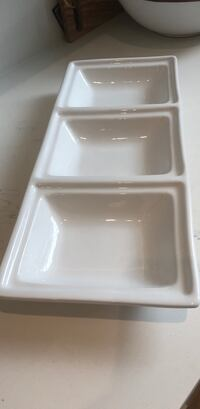 White three sectioned serving platter  Surrey, V4N 0G2