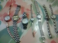silver-colored analog watch with link bracelet lot