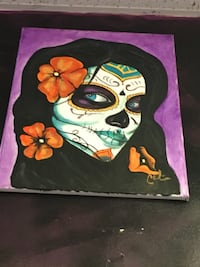 Day of Dead Beauty-Acrylic on canvas 16x20 Colón Art Berwyn, 60402