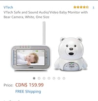 New, unused...  VTech Safe and Sound Audio/Video Baby Monitor with Bear Camera, White,  St Thomas, N5R 6M6