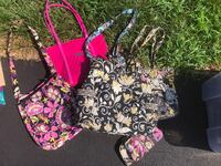 pink and black floral tote bag Lovettsville, 20180