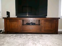 brown wooden TV stand  Abbotsford, V2T 5W8