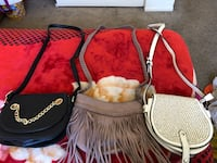 three assorted-color leather sling bags North Highlands, 95660