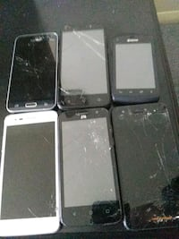 two black and white Samsung android smartphones Louisville, 40229