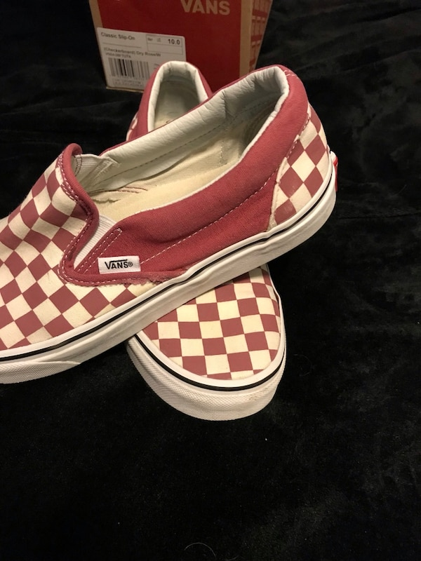 65a473cbf7d Used Vans Checkerboard White Rose with Box for sale in Santa Clara - letgo