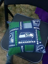 green and blue Seattle Seahawks pillow Edmonds, 98026