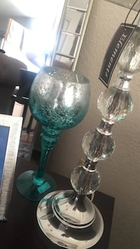 Turquoise &silver ombré color home decor  Tulare, 93274