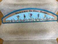 Wooden painted Welcome to Our Home plaque