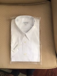 "White short sleeved shirt ( new, never worn) Neck 16 1/2"" Barrie, L4M"