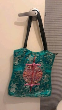 blue and pink floral tote bag Las Vegas, 89108