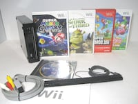 Wii Black Console + 4 games Calgary