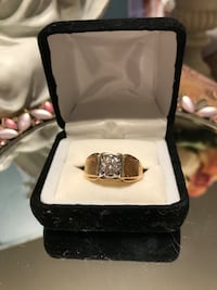 Nice! Gold Men's White Diamond Sapphire Ring Gainesville, 20155