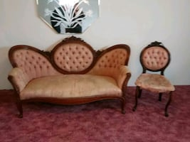 Antique Victotian sofa & chair. This is.great buy