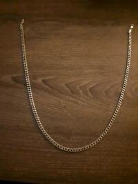 "Silver 20"" cuban link chain. $150 or best offer.  London, N6E"