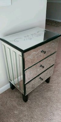 Chest of Drawers, covered in mirrors