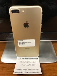Sale: Unlocked iPhone 7 Plus 32gb Used Gold Excellent Condition  Royal Oak, 48067