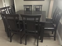 Rectangular brown wooden table with eight chairs Pitt Meadows, V3Y