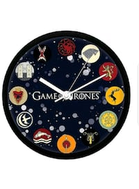 Redwolf Game of Thrones Wall Clock of All Houses Lillestrøm, 2000