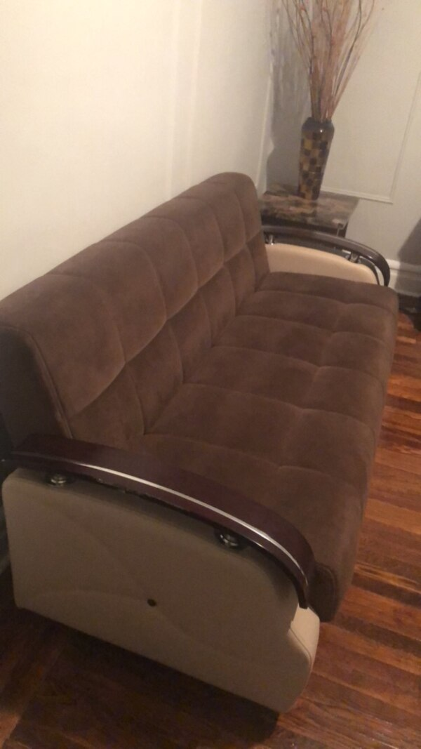 Leather and suede sofa & chair with matching rug