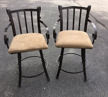 Wrought iron pub chairs