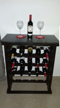 Rustic solid wood wine bottle rack Caledon, L7E