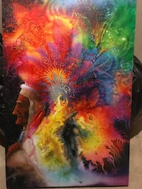 Colorful Native American Indian Feathered Effigy Canvas Brooklyn Park, 55428