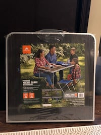Folding Camping table with 4 chairs -  NEW!