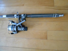 Fishing rod and reel 7 footer and Abu Garcia ready to fish