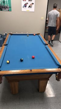 Blue and brown pool table San Diego, 92111