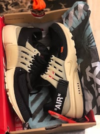 black-and-white Nike Air X Off-White shoes with box Tampa, 33614