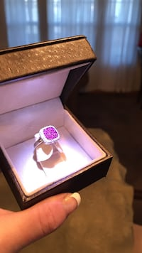 silver-colored and purple gemstone ring Pingree Grove, 60140