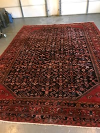 brown and red floral area rug Clifton