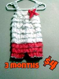 white and red knitted dress Calgary, T3B 0T3