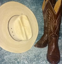 Texas Hat Co. Cowboy Hat 35B and Nocona L908 size 6 1/2 Cowboy Boots HOUSTON