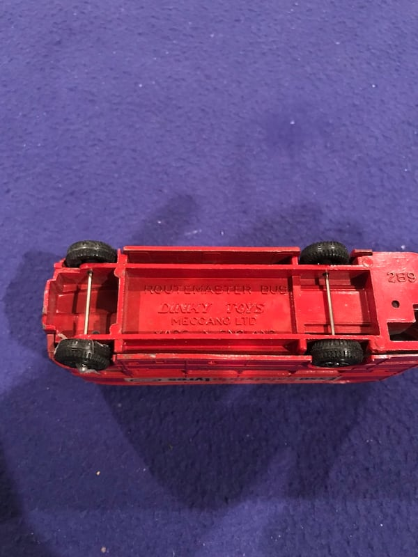 Antique Dinky Toy Route Master Bus ddb0080e-731a-48dd-8743-211840b4bead